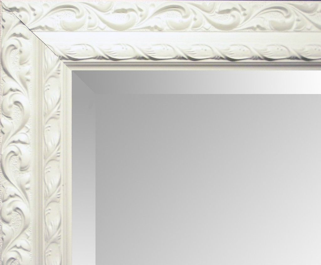 Large Silver Decorative Ornate Carved Overmantle Wall